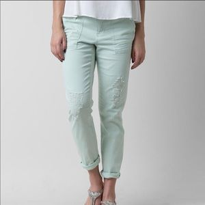"BKE Mint Green ""Mollie"" Ankle Skinny Crop Pant 25"